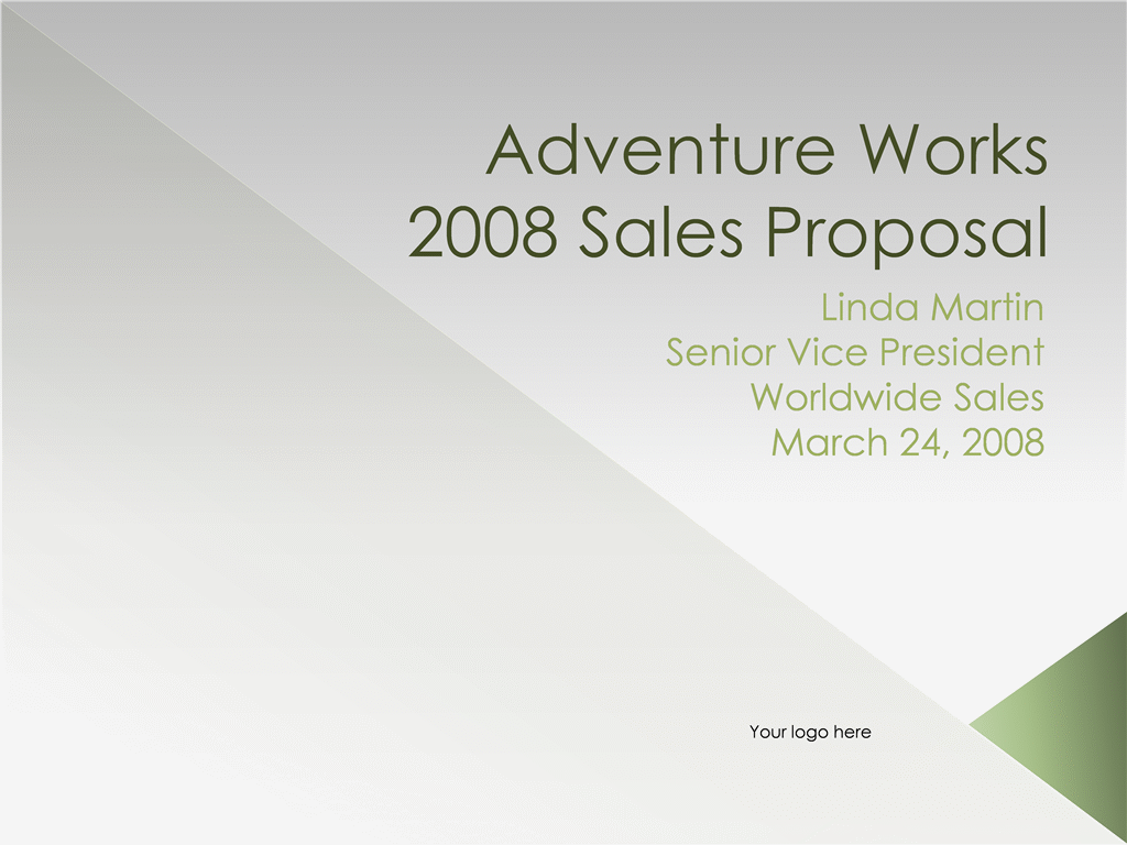 Sales proposal presentation - Office Templates