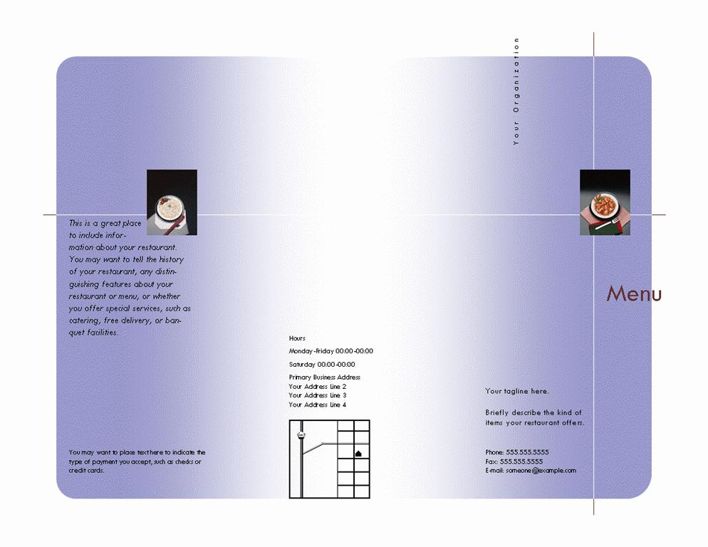 Menu (Crisscross design)