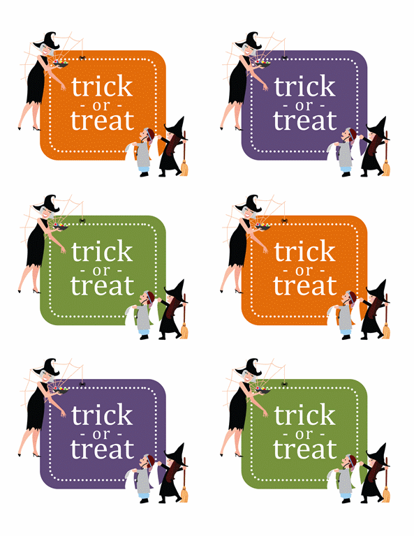 Halloween stickers (6 per page)