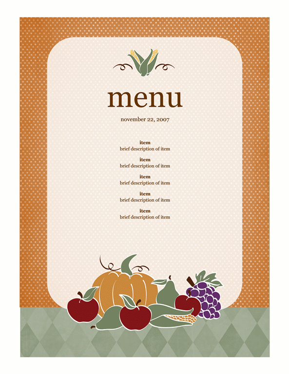 Menu (harvest design)