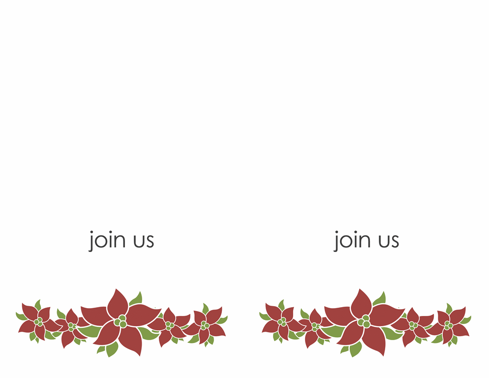 Party invitation (Poinsettia design)