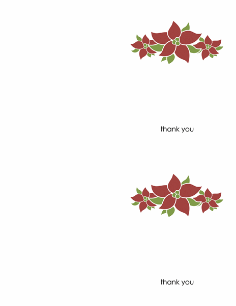 Thank you card (Poinsettia design)