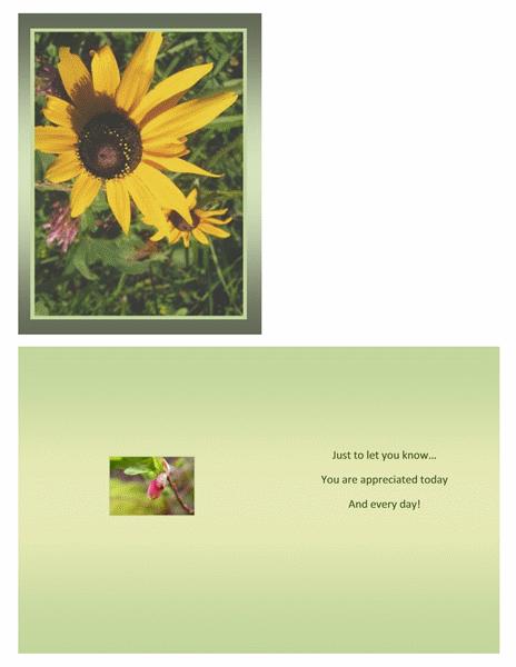 Administrative Professionals Day card (quarter-fold)