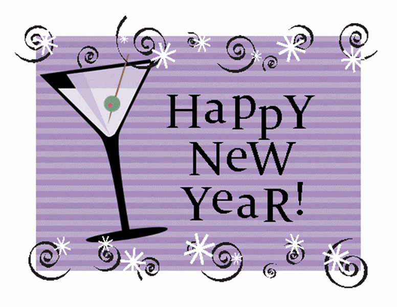 New Year's party invitation (purple)