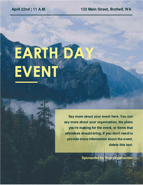 Earth day event flyer office templates templates support buy office 365 earth day event flyer yelopaper Image collections