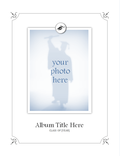 Graduation photo album (Formal design - color)