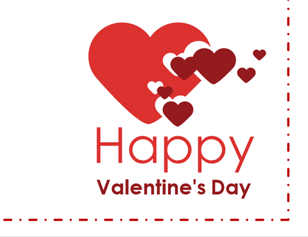 Valentines Day card quarterfold Office Templates – Card for Valentine Day