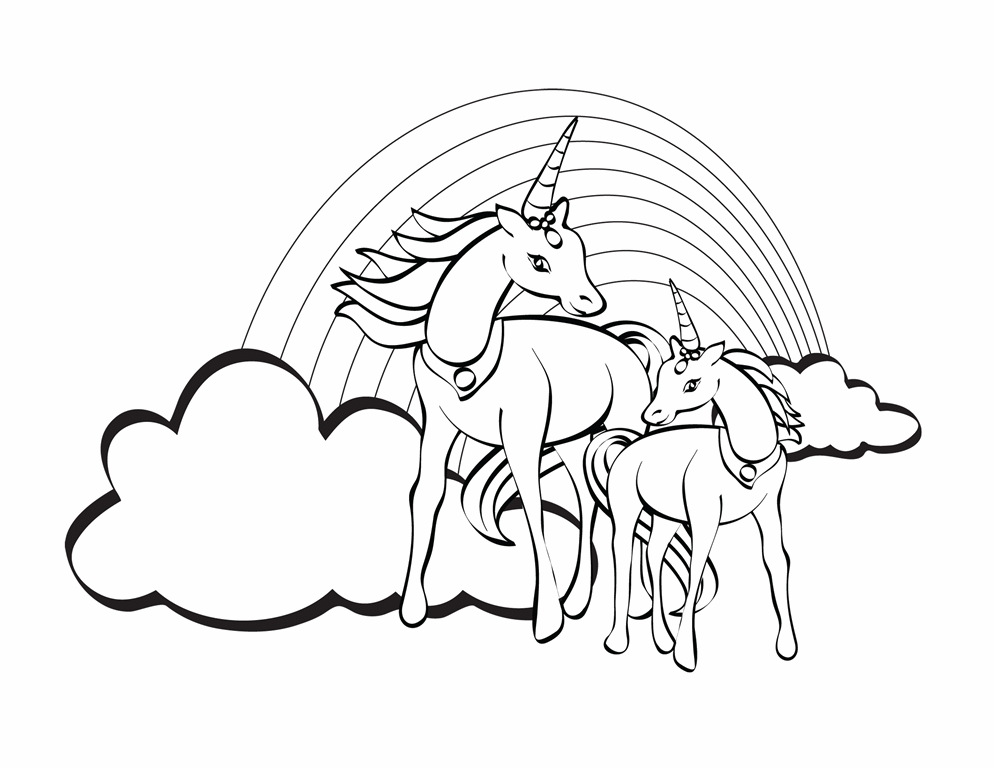 Coloring sheet (unicorn design)