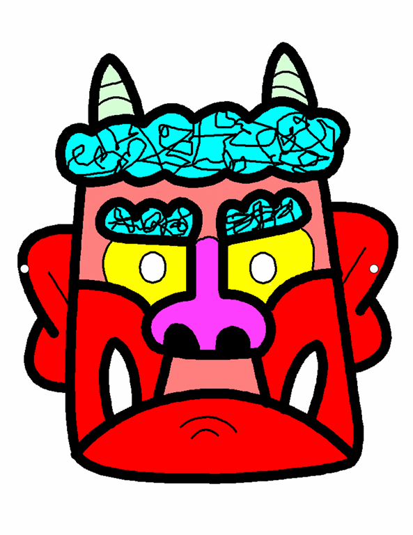 Japanese Setsubun mask (red)