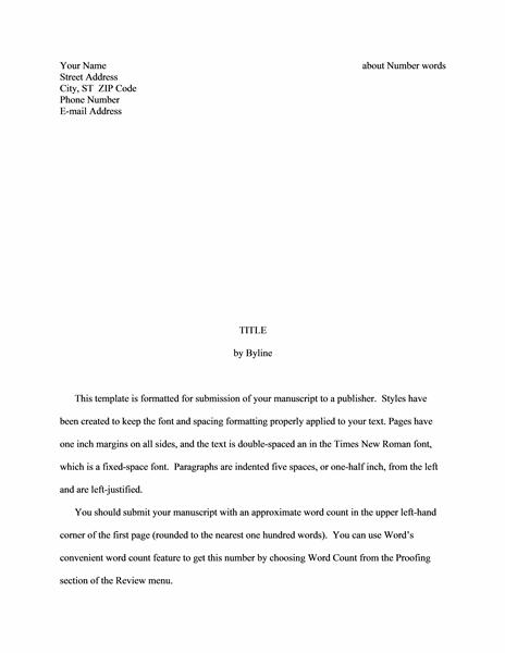 Story manuscript