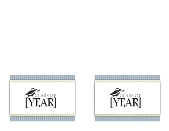Graduation ceremony invitations (Textures design, 2 per page)