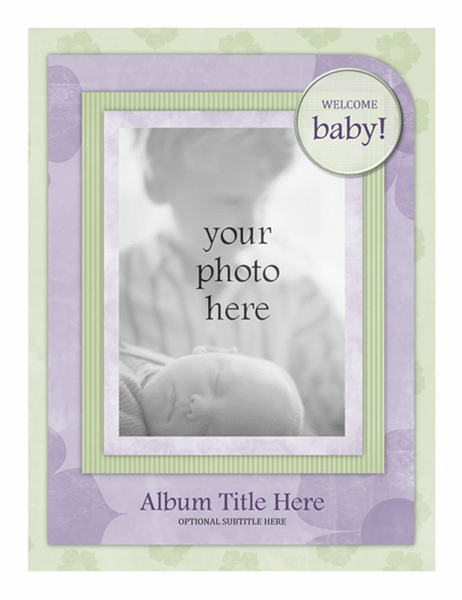 Baby photo album (Flower design)
