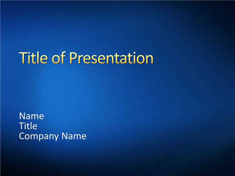 Sample presentation slides (Blue brushed metal design)