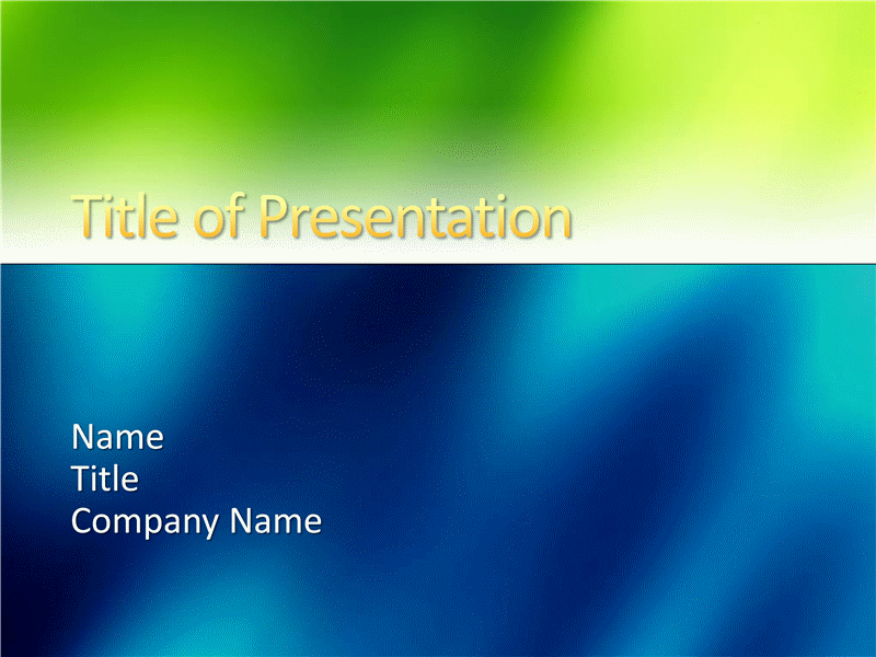 Sample presentation slides (Green and blue texture design)