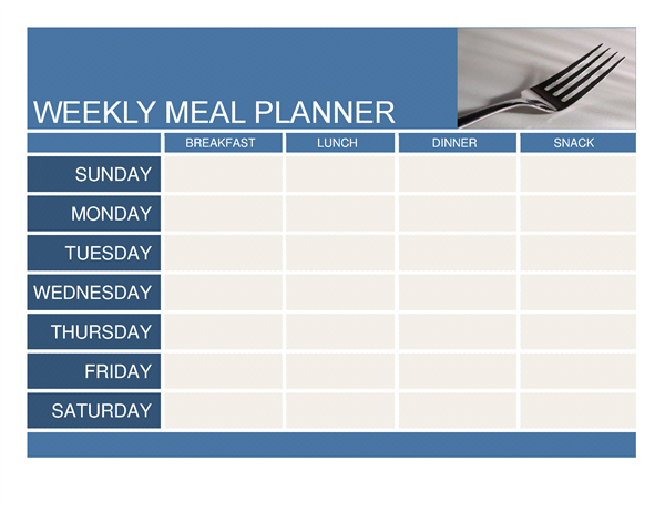 Weekly Meal Planner - Office Templates