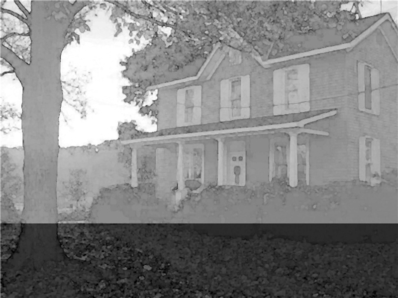 Old house design template (black and white)