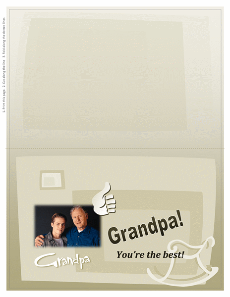 Grandparents Day photo card (for Grandpa, half-fold)