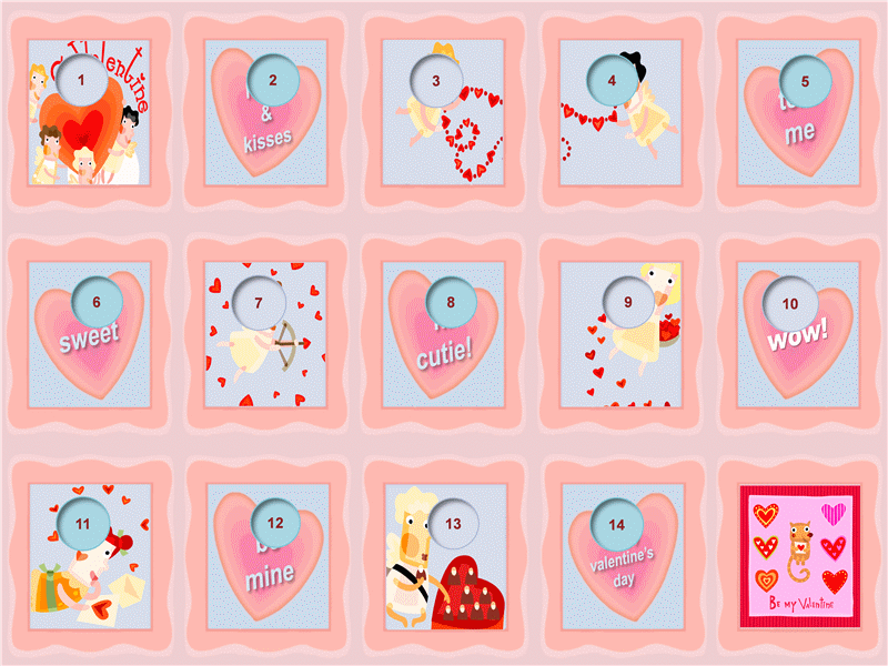 valentine's day countdown calendar - office templates, Ideas