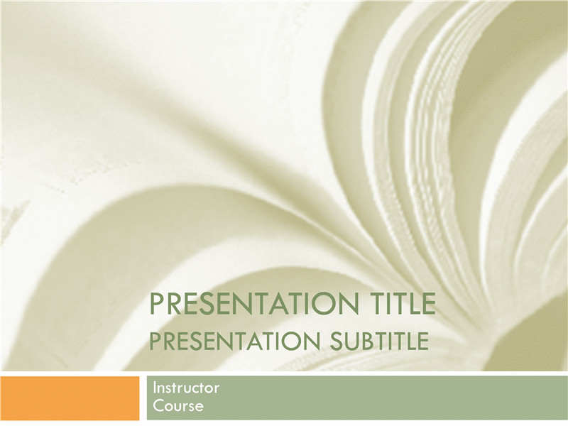 Academic presentation for college course (textbook design)