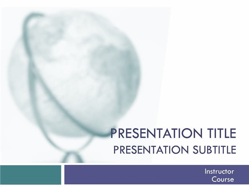 Academic presentation for college course (globe design)