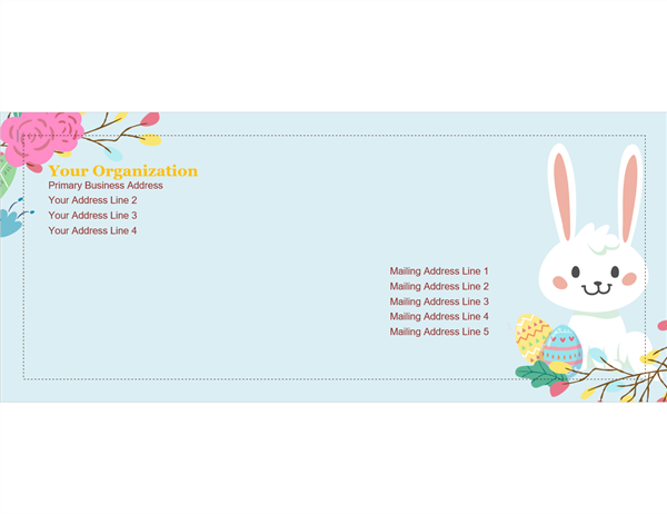 Easter envelope