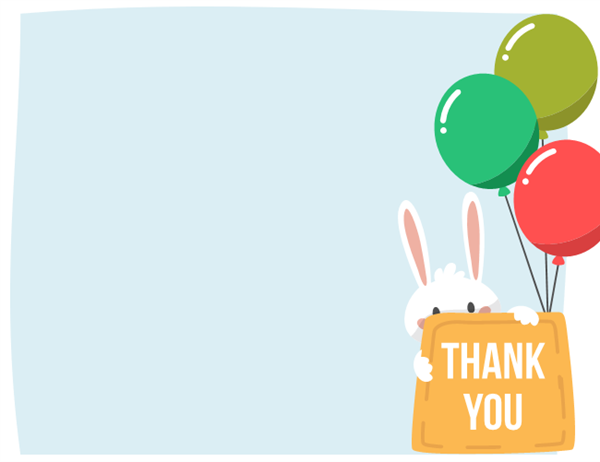 Easter thank you card (quarter-fold)