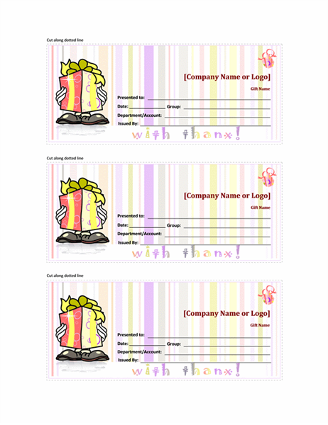 Gift certificate (Color)