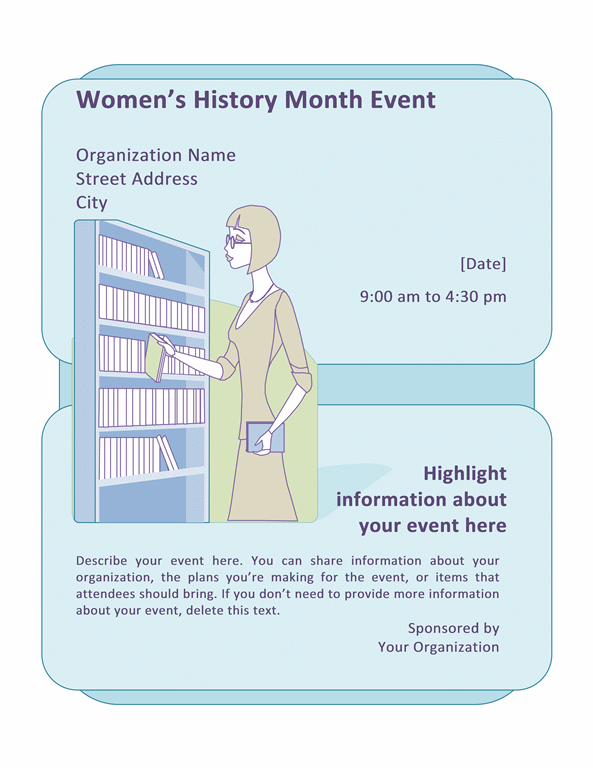 Women's History Month event flyer