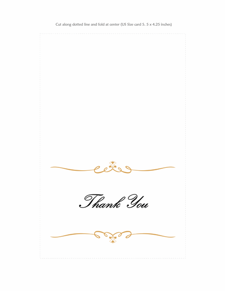 Thank you card (Heart Scroll design)