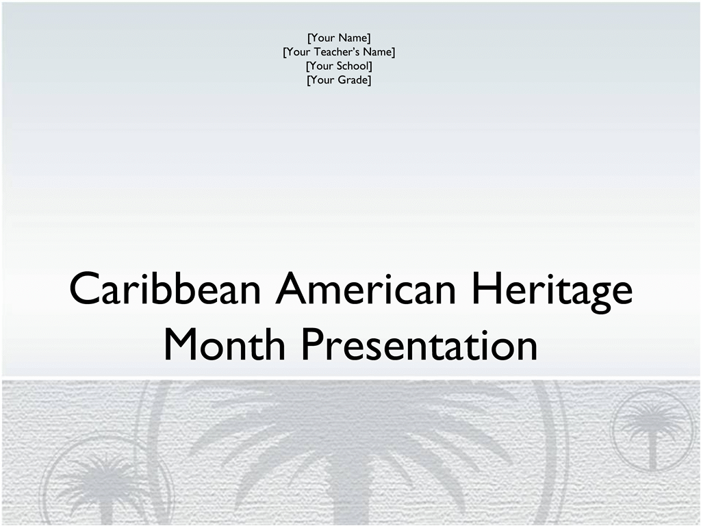 Caribbean American Heritage Month presentation