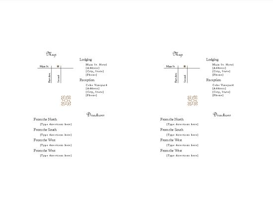 Directions insert (Juliet design)