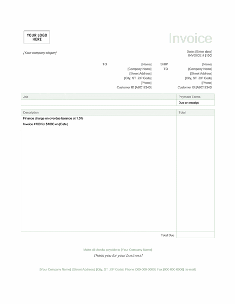 Invoices office finance charge green design pronofoot35fo Images