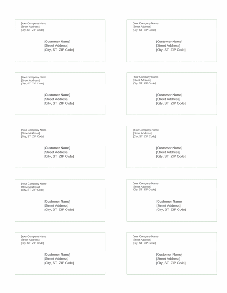 Shipping labels (Green design, 10 per page, works with Avery 5163)