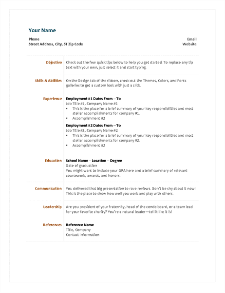 what does a functional resume look like