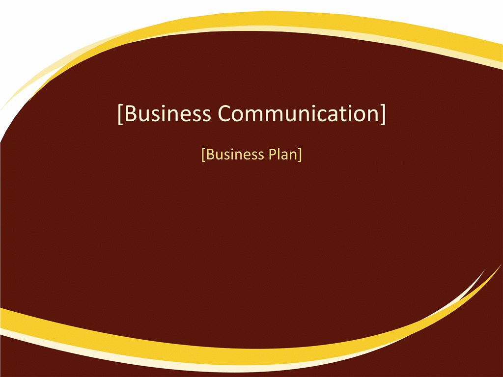 Business plan presentation (Burgundy Wave design)