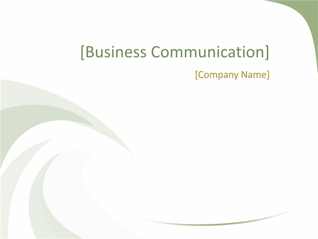 Business design slides (Green Wave design)