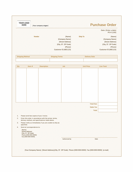 Purchase order Sienna design Office Templates – Office Purchase Order Template