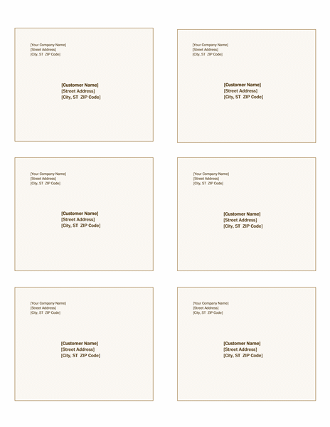 Shipping labels (Sienna design, 6 per page, works with Avery 5164)