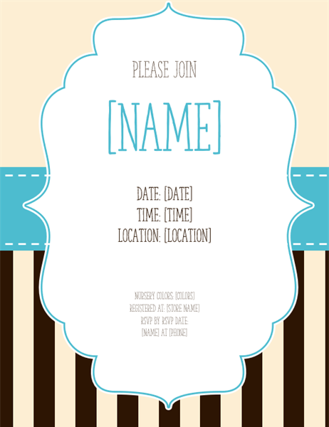 Baby shower invite (boy)