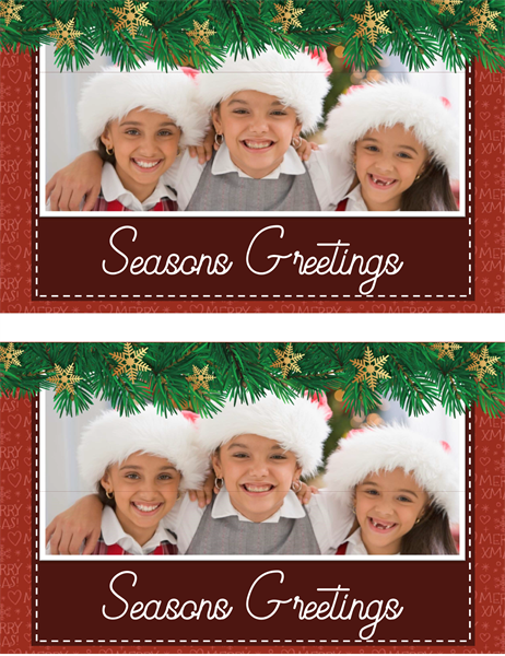 Holiday greenery photo card