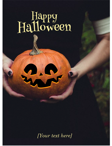 Jack-o'-lantern Halloween invitation