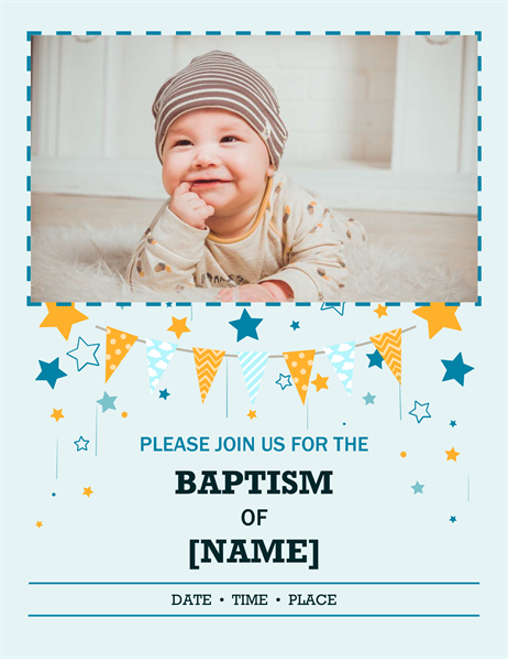 Photo baptism flyer