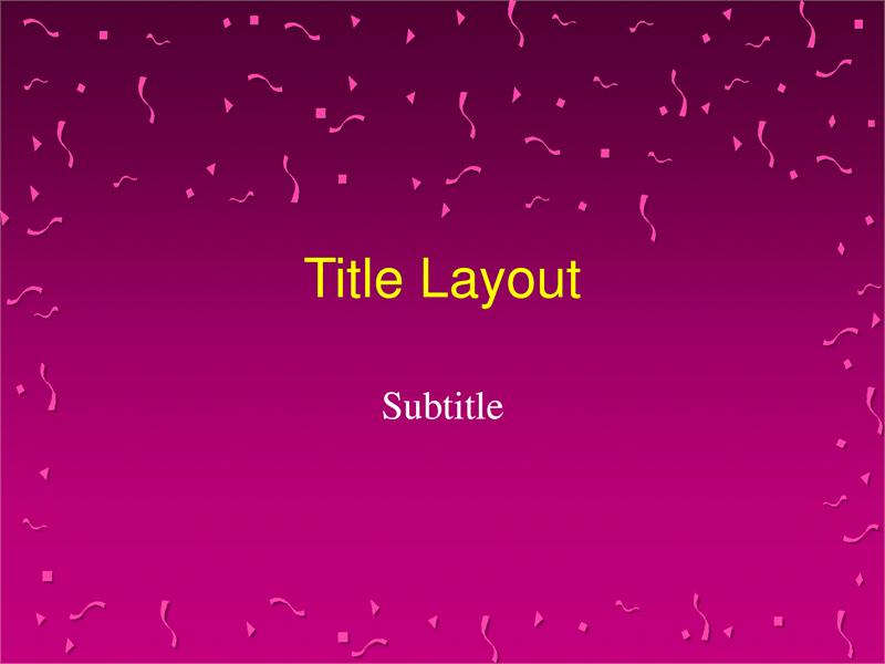 Basic slide