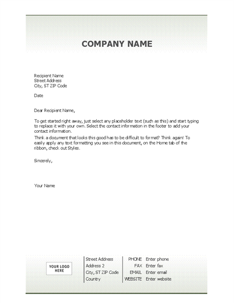 Business letterhead stationery (Simple design) - Office Templates