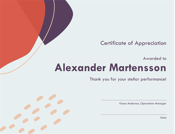 Certificate Of Recognition For Administrative Professional  Microsoft Office Coupon Template