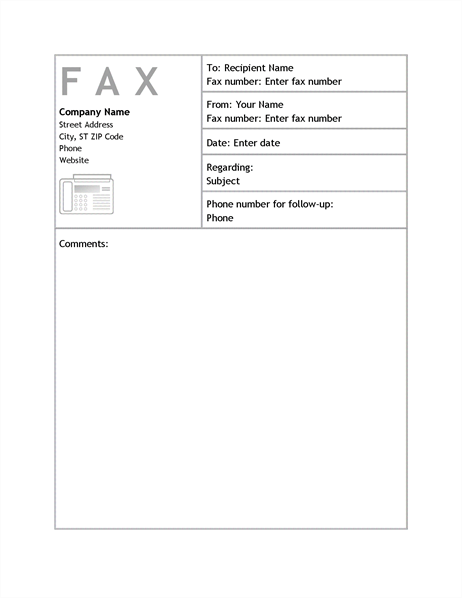 Business Fax Cover Sheet  Printable Fax Sheet