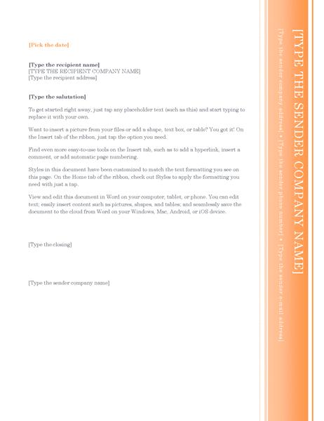 Letter (Oriel theme)