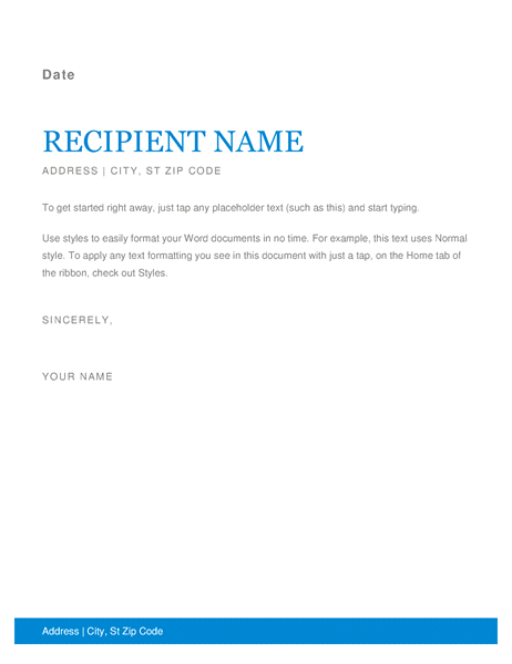 Great Business Letter Word Ideas Letter Format On Word