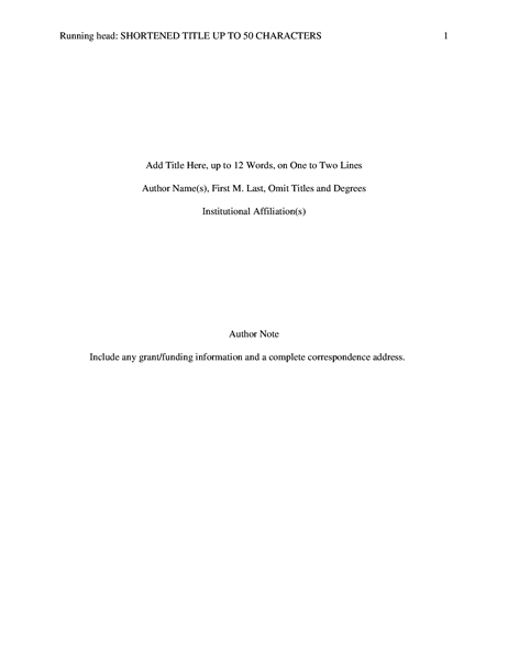 Papers and Reports Office – White Paper Word Template
