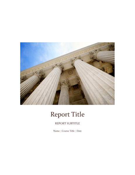 Papers and Reports Office – Student Report Template Word
